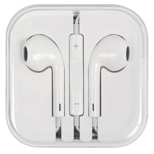Гарнитура для мобильных телефонов Apple iPhone 4, iPhone 4S, iPhone 5, iPhone 5C, iPhone 5S, iPhone 6, iPhone 6 Plus, белая