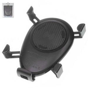 Беспроводное зарядное устройство Konfulon CMQ01, на дефлектор, выход 5В 1А 9В 1.2А , Micro USB вход 5В 2А 9В 2А , черное