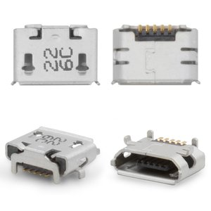 Charge Connector HTC A3333 Wildfire, A9191 Desire HD, G10, G6, G8 , T8585 Touch HD2, T9292 HD7, (5 pin, micro USB type-B)
