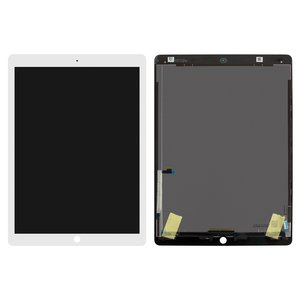 LCD for Apple iPad Pro 12.9 Tablet, (white, without flat cable, with touchscreen, A1584/A1652/A1670/1671)