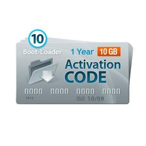 Boot-Loader v2.0 Código de activación (1 año, 10 códigos x 10+1 GB)