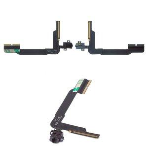 Cable flex para tablet PC Apple iPad 3, iPad 4, de conector de auriculares, con componentes
