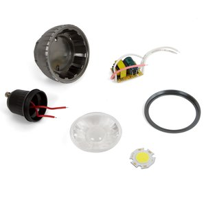 Комплект для збирання світлодіодної лампи TN-A71 3 Вт (холодний білий, GU10)