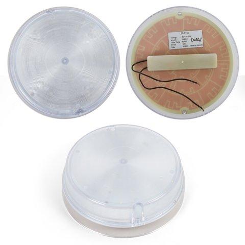 LED світильник D150, 12 Вт, 220 В, 1300 лм, WW природний білий , круглий