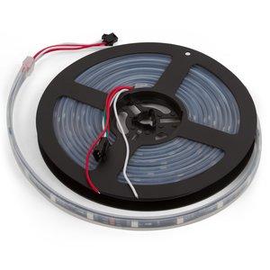 Світлодіодна стрічка RGB SMD5050, WS2811 (чорна, з управлінням, IP67, 12 В, 30 діодів/м, 1 м)
